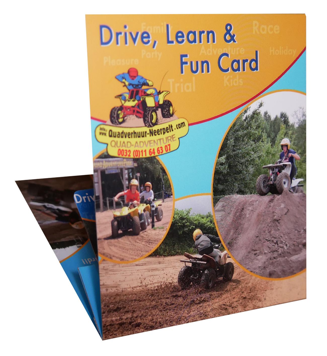 Quadrijden cadeaubon drive learn fun card